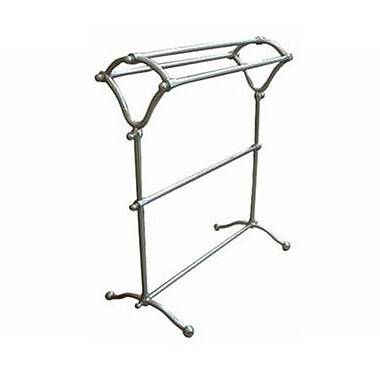 Elements of Design Vintage Pedestal Y-Type Free Standing Towel Rack; Satin Nickel