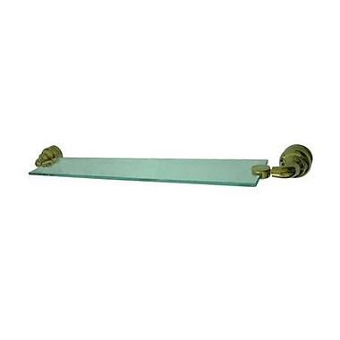 Elements of Design 25'' W Bathroom Shelf; Polished Brass