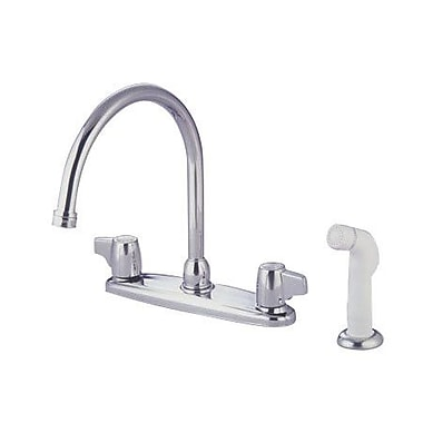 Elements of Design Double Handle Centerset Kitchen Faucet w/ Canopy Lever Handles