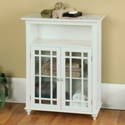 Elegant Home Fashions Neal 26.5'' x 34'' Free Standing Cabinet; White