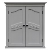 Elegant Home Fashions Versailles 22'' x 24'' Wall Mounted Cabinet; White