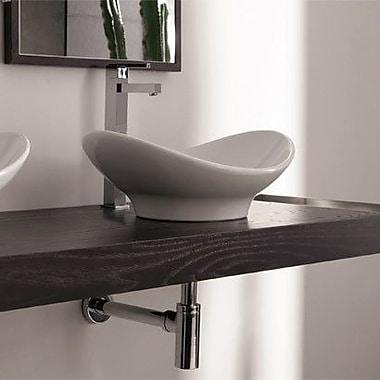 Scarabeo by Nameeks Zefiro Oval-Shaped Ceramic Vessel Sink