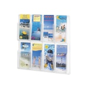 Safco Products Reveal Clear Literature Displays, 8 Compartments