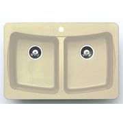 Astracast 33'' x 22'' Alpha Granite ROK Double Bowl Kitchen Sink; Sahara Stone