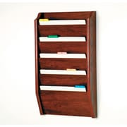Wooden Mallet Five Pocket Legal Size File Holder; Mahogany