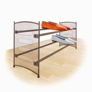 Lynk Expandable/Stackable Mesh Sided Shoe Rack; Bronze