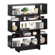 Hokku Designs Celio 53'' Bookcase; Black
