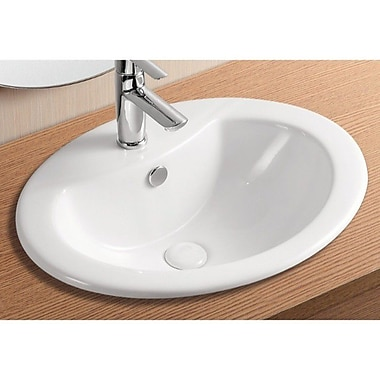 Caracalla Ceramica II Oval Self Rimming Bathroom Sink w/ Overflow