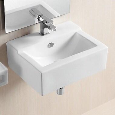 Caracalla Ceramica II 18.9'' Rectangular Wall Mounted Bathroom Sink w/ Overflow