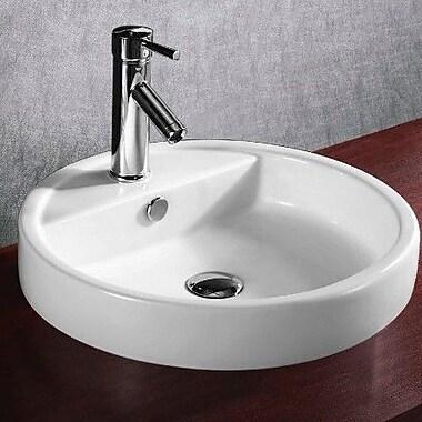 Caracalla Ceramica Circular Ceramic Self Rimming Bathroom Sink
