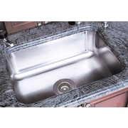 A Line by Advance Tabco 11.5 inch X 11.5 inch Single Bowl Undermount Kitchen Sink by