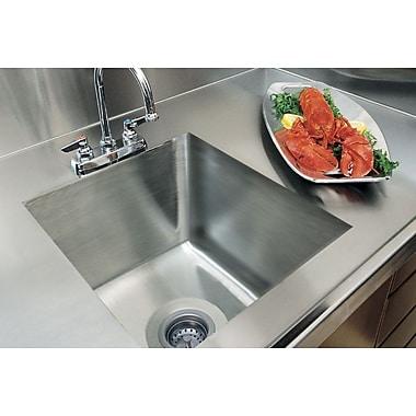 A-Line by Advance Tabco 20'' x 16'' Integral Single Bowl Kitchen Sink