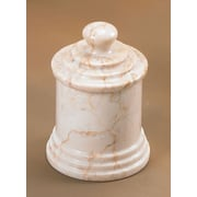 Creative Home Champagne Marble Column Cotton Ball Holder