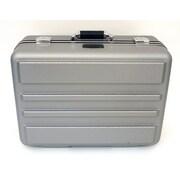 Platt 19'' Deluxe Polyethylene Tool Case with Chrome Hardware: 14.25 x 19 x 9.13; Gray