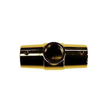 Elements of Design 3 Hole Shower Ring Connector; Polished Brass