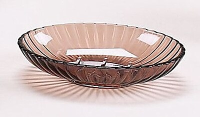 Carnation Home Fashions Acrylic Ribbed Soap Dish; Brown WYF078276239972