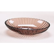 Carnation Home Fashions Acrylic Ribbed Soap Dish; Brown
