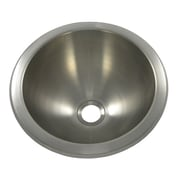 Opella 12'' x 12'' Round Bar Sink; Brushed Stainless Steel