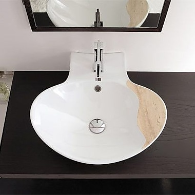 Scarabeo by Nameeks Zefiro 19.7'' Oval-Shaped Ceramic Wall Mounted Sink w/ Overflow