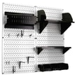 Wall Control Pegboard Hobby Craft Pegboard Organizer Storage Kit; White and Black