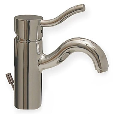 Whitehaus Collection Venus Bathroom Faucet w/ Pop-Up Waster; Brushed Nickel