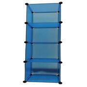 JaBox Shelf 56'' H 4 Shelf Shelving Unit Starter; Blue