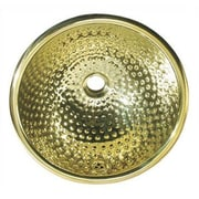 Whitehaus Collection Decorative Round Ball Pein Bathroom Sink; Polished Brass