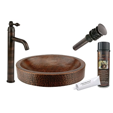 Premier Copper Products Compact Skirted Vessel Bathroom Sink