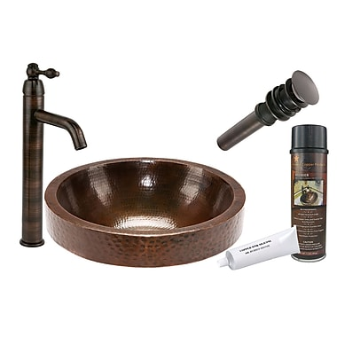 Premier Copper Products Skirted Vessel Bathroom Sink