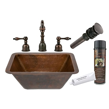 Premier Copper Products Hammered Bathroom Sink