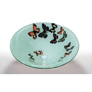 Legion Furniture Vessel Bathroom Sink; Butterfly Frosted