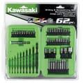 Kawasaki 62 Piece Drilling and Screw Driving Set