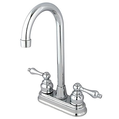 Kingston Brass Victorian Double Handle Centerset High-Arch Bar Faucet; Polished Chrome