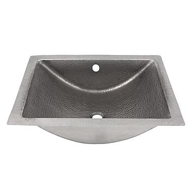 The Copper Factory Concave Undermount Bathroom Sink; Satin Nickel