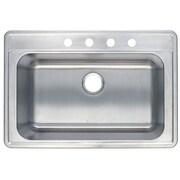 Kingston Brass Studio 22'' x 33'' Gourmetier Self Rimming Single Bowl Kitchen Sink