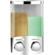 Better Living Products Euro Duo Dispenser w/ Translucent Containers; Chrome