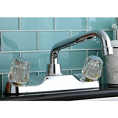 Kingston Brass Double Handle Kitchen Faucet w/ Spout