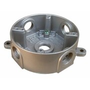 Morris Products 4'' Round Weatherproof Boxes in Gray with Five Holes