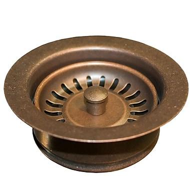 Native Trails Sink 4.5'' Basket Strainer w/ Disposer Trim; Solid Copper