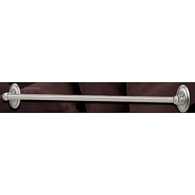 Alno Classic Traditional Wall Mounted Towel Bar; Satin Nickel