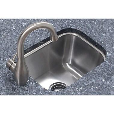A-Line by Advance Tabco 12.5'' x 16.5'' Single Bowl Undermount Prep Kitchen Sink