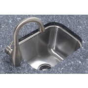 A Line by Advance Tabco 12.5 inch x 16.5 inch Single Bowl Undermount Prep Kitchen Sink by