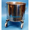 Geerpres Stainless Steel 5 Gallon Round Mop Bucket with 2'' Casters