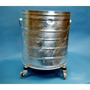 Geerpres Galvanized 11 Gallon Round Mop Bucket with 2'' Casters