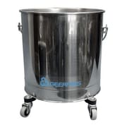Geerpres Stainless Steel 8 Gallon Round Mop Bucket with 2'' Casters
