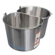 Geerpres Stainless Steel 2 - 5 Gallon Half Round Buckets
