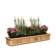 Baltic Leisure Rectangular Planter Box; 7.5'' H x 28.63'' W x 12.5'' D