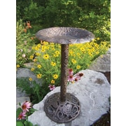 Oakland Living Vineyard Bird Bath; Antique Bronze