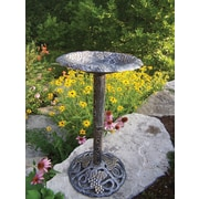 Oakland Living Vineyard Bird Bath; Antique Pewter