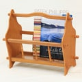 Mega Home Magazine Rack; Oak